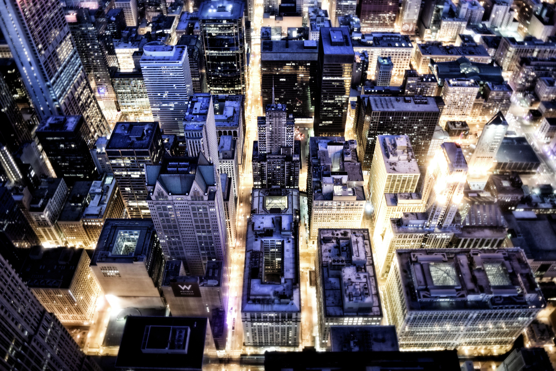 Stadt aus der Vogelperspektive